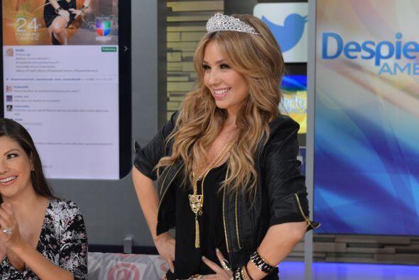 Thalía reveló que su hija Sabrina de 7 años de edad compuso una de las c...