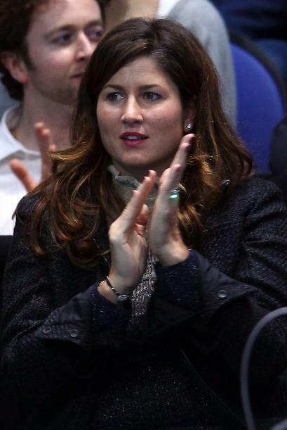 La esposa de Roger, Mirka, estuvo alentando al suizo de prinicipio a fin.