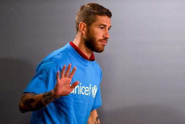 Sergio Ramos, el futbolista español del Real Madrid, es el jugador de su...