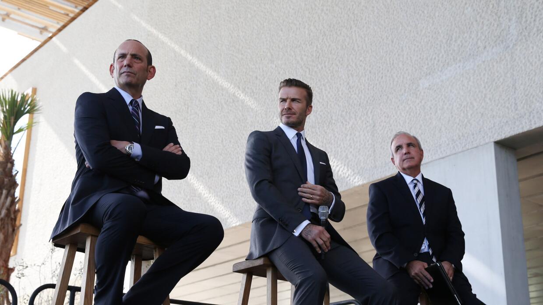 David Beckham el día de la presentación de su equipo.