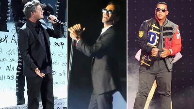 Marc Anthony, Romeo Santos, Alejandro Sanz, Daddy Yankee y Nicky Jam ent...