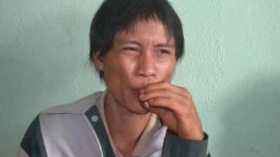 Ho Van Lang,quien estaba en la selva desde que tenía dos años,se pasa...