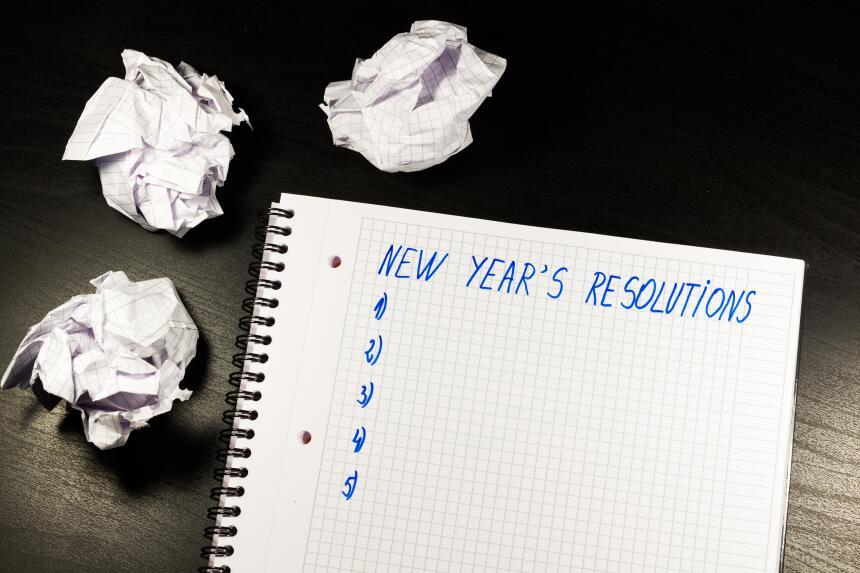 Cómo lograr los propósitos de año nuevo