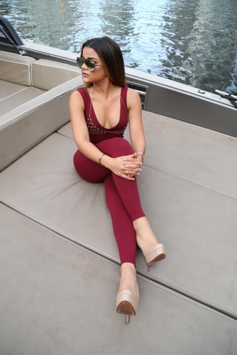 Clarissa Molina posó para un sesión de fotos antes de Prem...