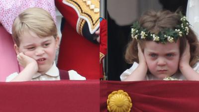 El príncipe George de Inglaterra y  Grace Van Cutsem, hija de uno...