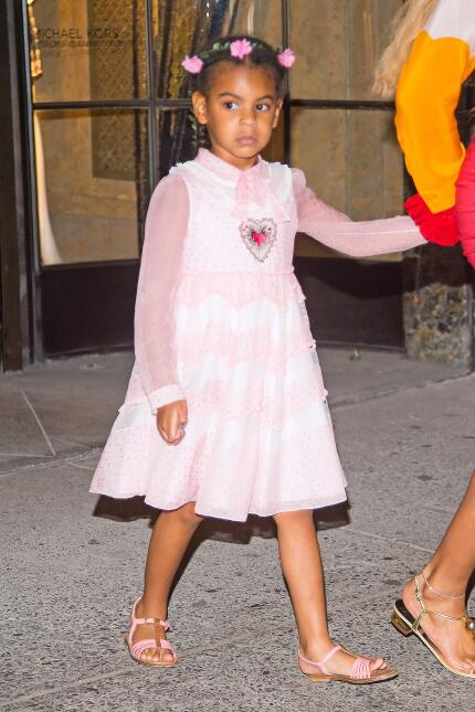 Beyonce and her daughter Blue Ivy Carter are seen leaving Bergdorf and G...