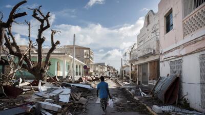 El destructivo paso del huracán Irma por el Caribe