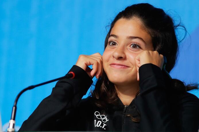 Yusra representó a Siria en el campeonato mundial en el 2012. Pero la gu...