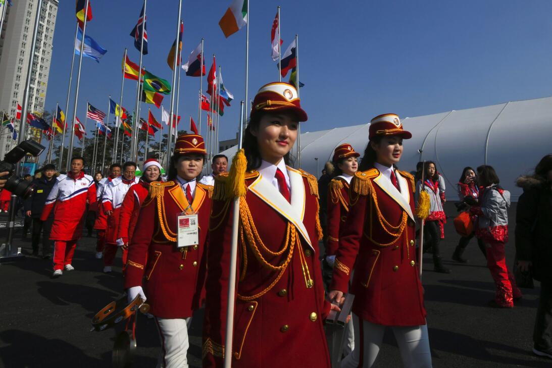 Llegada de Corea del Norte a Pyeongchang 2018 gettyimages-915595178.jpg