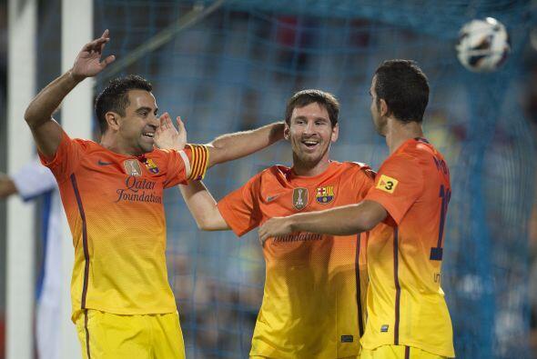 Entrando de cambio, Leo marcó un doblete, el tercero en cuatro jornadas...