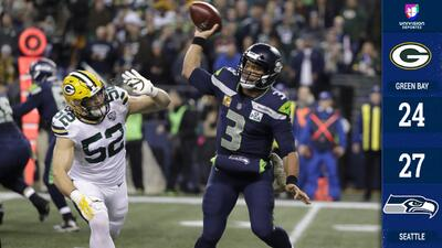 Seattle vino de atrás y sacó importante victoria a Green Bay que se aleja de playoffs