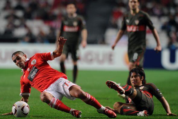 Otro equipo portugués que vio acción fue el Benfica, que recibió al Stut...