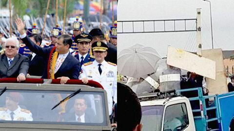 Los contrastes del poder: Rafael Correa  en sus horas de gloria y esquiv...