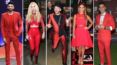 El rojo es pasión y siempre se impone en la alfombra de Premios Juventud