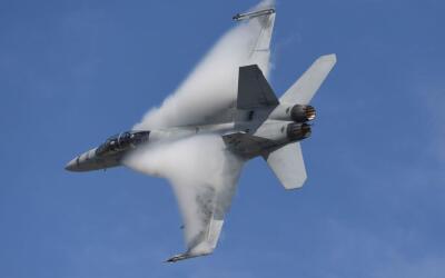Un avión caza F18 super hornet derribó el apparato sirio.