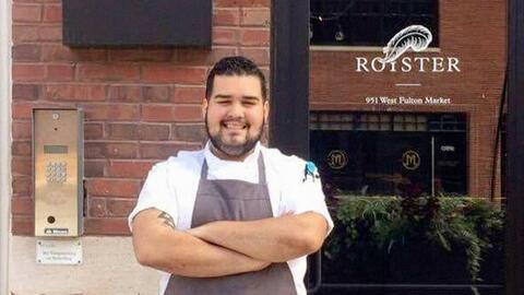 Luis Mercader en su restaurante en Chicago.