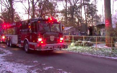 Una mujer y dos niños murieron en un incendio en Huffman, Texas....