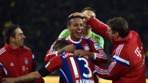 Thiago regresó a las canchas y lo celebró con el triunfo del Bayern ante...