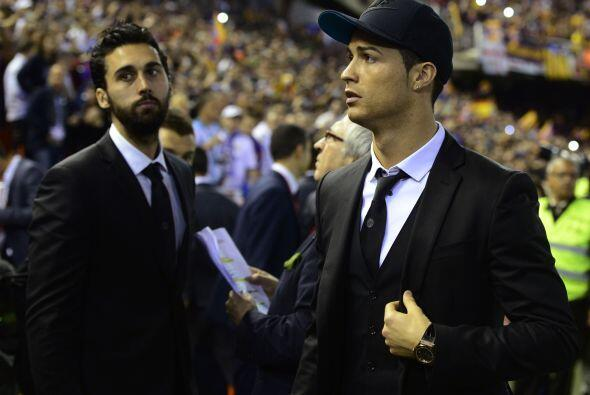 Cristiano Ronaldo estuvo presente, pero en las gradas, como se había anu...