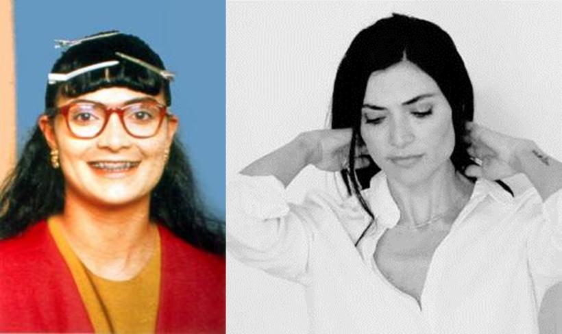 La actriz Ana María Orozco, a la izquierda como su personaje 'Bet...