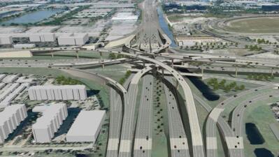 Construcción autopistas 826 y 836 Miami
