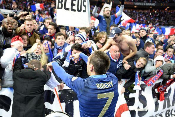 Ribery también calificó con la escuadra francesa al siguiente Mundial, p...