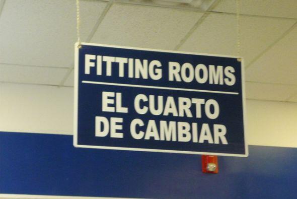 Hablando de carteles, las traducciones no son siempre del todo correctas...