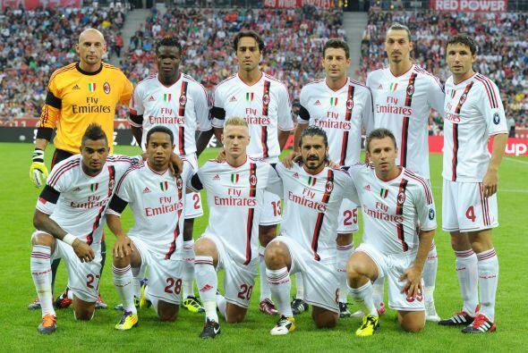Milan: Abbiati; Abate, Mexès, Thiago Silva, Antonini; Nocerino, Van Bomm...