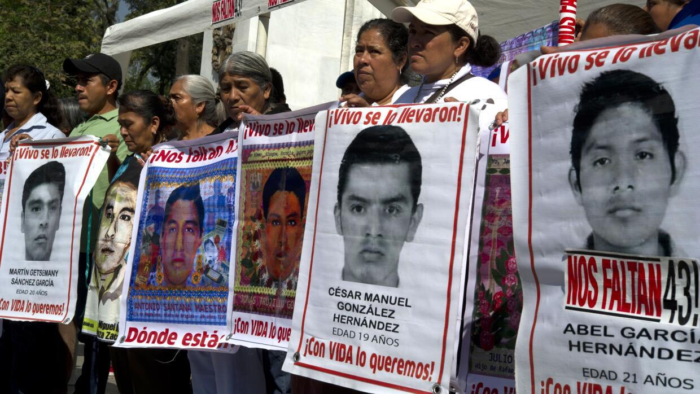 En busca de los 43 de Ayotzinapa.