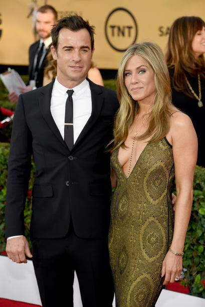 Incluyendo a su prometido, el actor Justin Theroux.