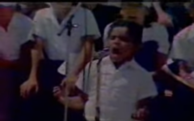 Adrián Guacarán, durante su interpretación ante el...
