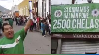 (Video) Prometieron regalar miles de 'chelas' si ganaba México y lo cumplieron