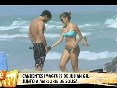 Marjorie de Sousa y Julián Gil estuvieron juntos en dos ocasiones, la pr...