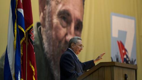 Raúl Castro en la inauguración del Congreso del Partido Co...