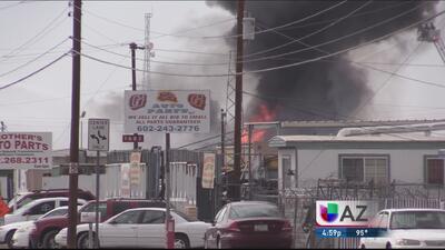 Explosiones con materiales tóxicos