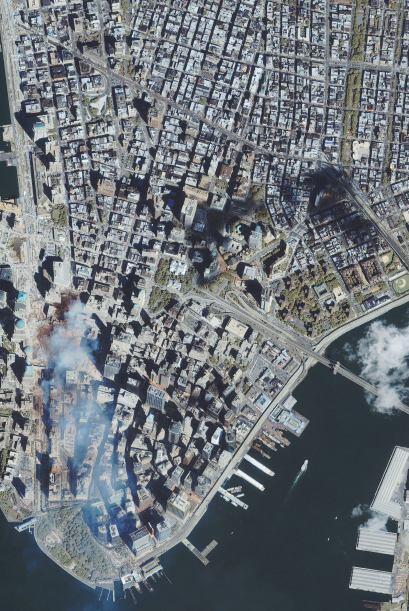 En esta imagen satelital se observa la nube blanca que se expandi&oacute...