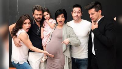 Desde la izquierda, Alessandra Rosaldo, Eugenio Derbez, Aitana, Aislinn,...
