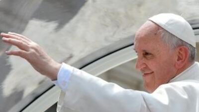 El papa Francisco en una audiencia en la Plaza de San Pedro.