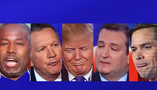 Candidatos GOP Gestos