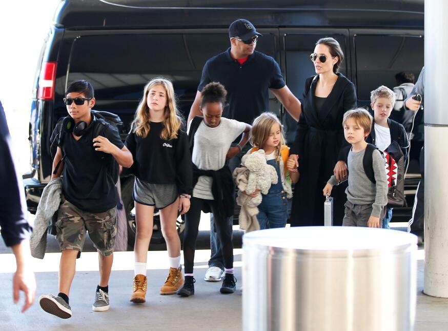 Maddox, Zahara, Shiloh, Pax, Knox y Vivienne, hijos de Brad Pitt y Angel...