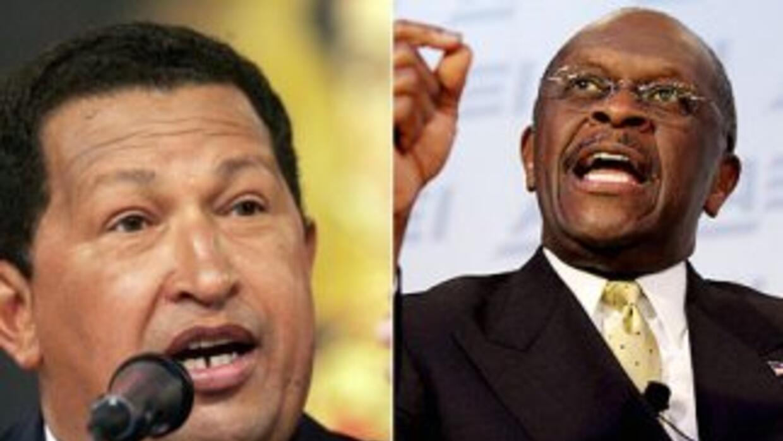 Hugo Chavez y Herman Cain