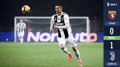 Cristiano anota y sostiene a la Juventus en lo más alto de la Serie A