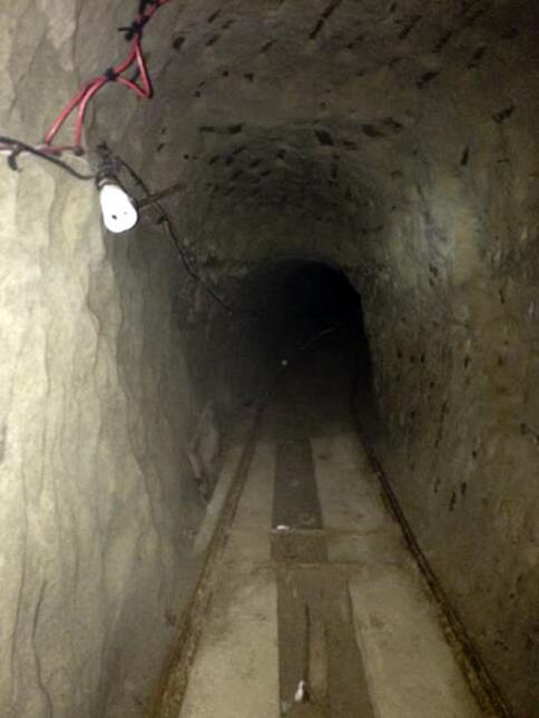 En el interior del túnel se halló una tonelada de cocaína y 6 de marihuana