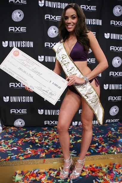 La venezolana Thebis fue el segundo, muy digno, lugar del concurso y rec...