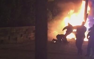 """""""Tiene el 30% del cuerpo quemado"""", dice el hermano del hombre golpeado p..."""