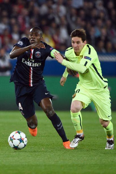 Lionel Messi no brilló con la misma intensidad de otras tardes europeas...