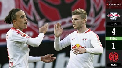 Leipzig da golpe de autoridad ante el Mainz y vuelve a la senda del triunfo