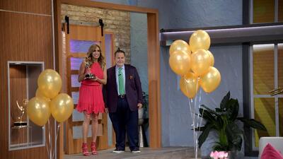 Así festejaron a Lili Estefan en El Gordo y La Flaca por ganar un Emmy