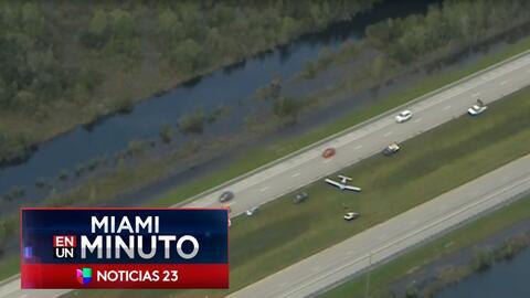 'Miami en un Minuto': investigan aterrizaje forzoso de una avioneta en l...