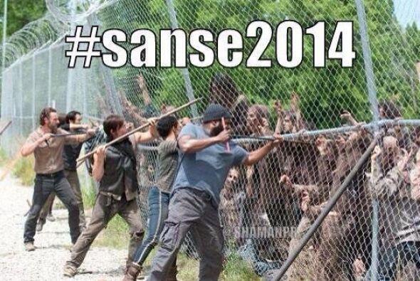"""""""Ajajaha walking alcoholics! #sanse2014""""- Alejandro M. Fernández Gómez."""